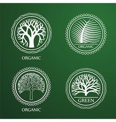 tree label3 vector image