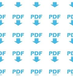 Unique Pdf seamless pattern vector image