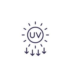 Uv radiation solar ultraviolet icon line vector