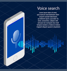 Voice shearch phone vector