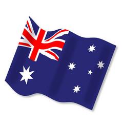 Waving australian flag vector