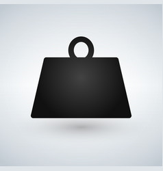 Weight kilogram pounds icon in trendy flat style vector