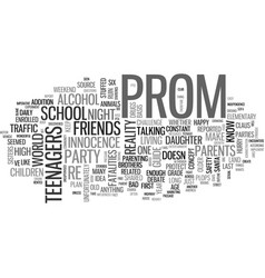 Why plan an after prom party text word cloud vector