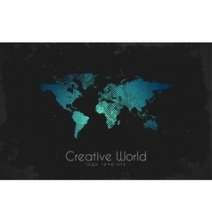 World map logo Creative world design Creative vector