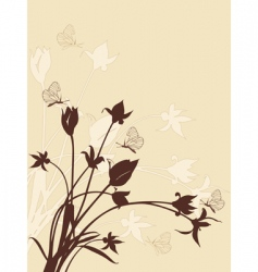 abstract floral background with tulips vector image