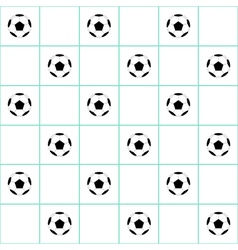 Football Ball Mint Green Grid White Background vector image