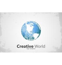 Globe logo Creative world design Creative logo vector image vector image