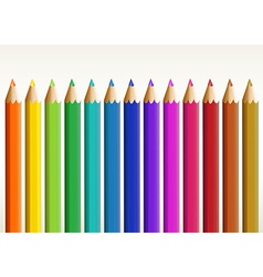 Colorful long pencils vector image vector image