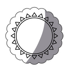 sticker monochrome with abstract sun icon vector image