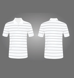 striped white polo t shirt vector image vector image