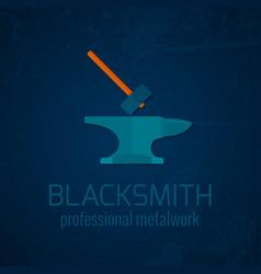 Blacksmith metalwork icon vector image vector image