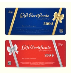 Elegance gift card or gift voucher template vector image vector image