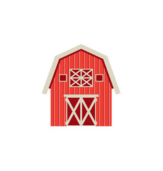 flat barn icon isolated on white background vector image