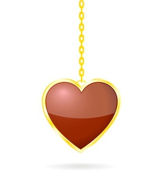 Heart With Golden Chain vector image
