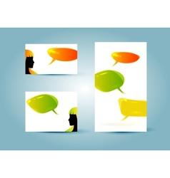 speech bubble banner templates vector image vector image