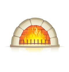 Stone fireplace vector image