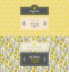 Tea packaging design elements vector image vector image