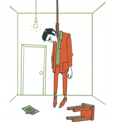 the hanged man vector image vector image
