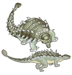 ankylosaurus vector image