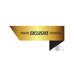 design ribbon exclusive gold silver vector image vector image