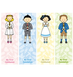 set first communion vector image