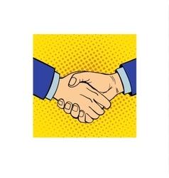 Shaking hands vector image