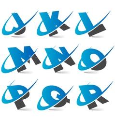 Swoosh alphabet logo set 2 vector