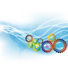 techno gears vector image vector image