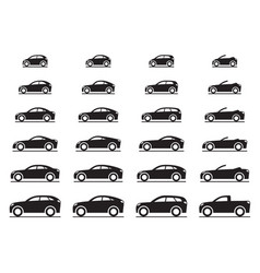 various modern cars vector image