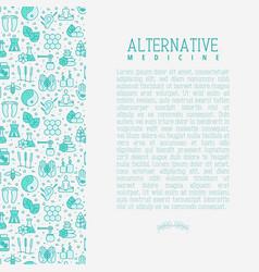 Alternative medicine concept vector