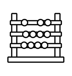 Back to school education abacus mathematics vector