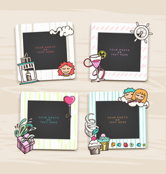 Beautiful template hand drawn frames vector