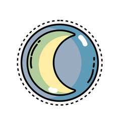 beauty moon natural satellite of the earth planet vector image