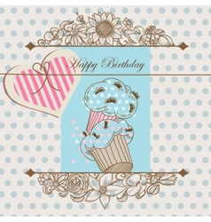 birthday card or bashower template vector image