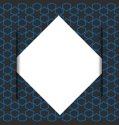 Blank paper on blue geometric pattern vector