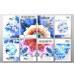 Business and scientific templates with vector image