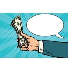 Cash dollars money Finance retro vector image