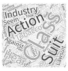 Class action suits Word Cloud Concept vector