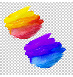 color blots set vector image