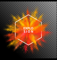 colorful explosion vector image