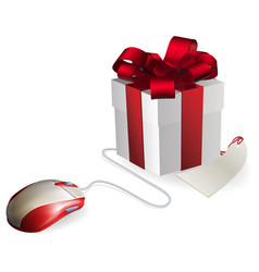 Computer mouse gift vector