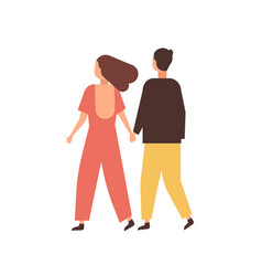 couple holding hands flat vector image