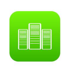 database servers icon digital green vector image