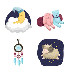 Design dreams and night logo set of vector