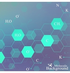 Dna molecule on blue background Graphic vector image