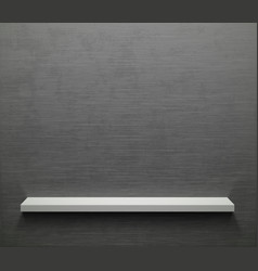 empty shelf on a gray metal wall vector image