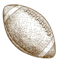 engraving of american football ball vector image