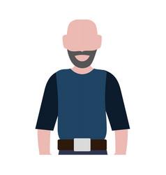 Faceless man adult vector