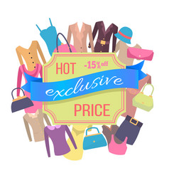 Fifteen percent off best exclusive discount price vector