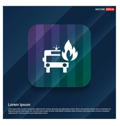firefighters truck icon vector image